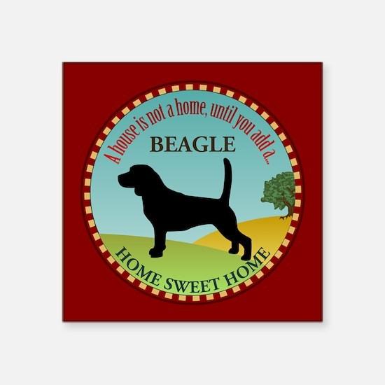 """Beagle Square Sticker 3"""" x 3"""""""