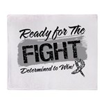 Ready Fight Carcinoid Cancer Throw Blanket
