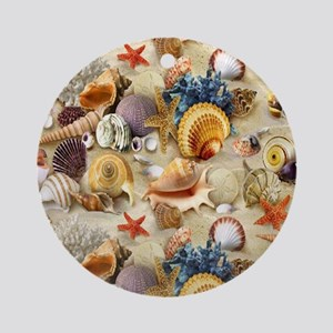 Fancy Seashells Ornament (Round)