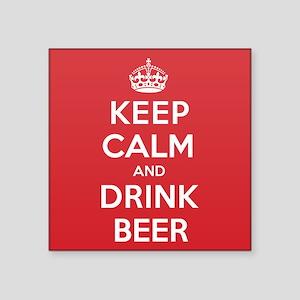 "K C Drink Beer Square Sticker 3"" x 3"""
