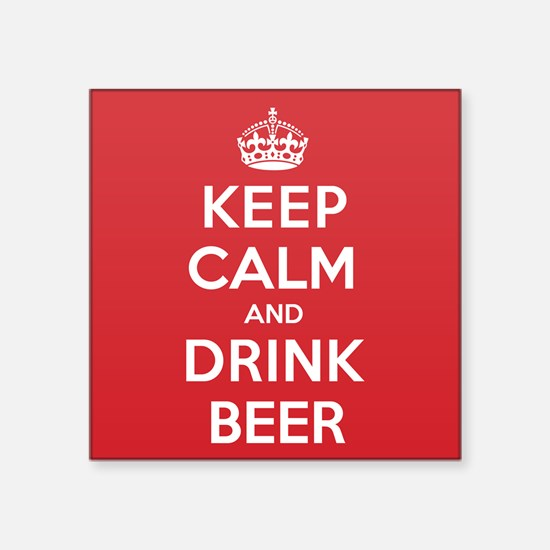 "K C Drink Beer Square Sticker 3"" x 3"""