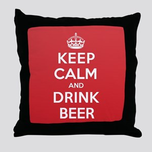 K C Drink Beer Throw Pillow