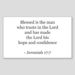 Jeremiah 17:7 Rectangle Sticker