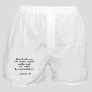 Jeremiah 17:7 Boxer Shorts