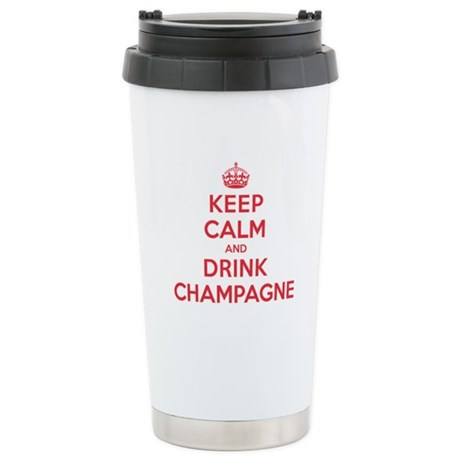 K C Drink Champagne Stainless Steel Travel Mug