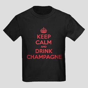 K C Drink Champagne Kids Dark T-Shirt