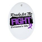 Ready Fight GIST Cancer Ornament (Oval)