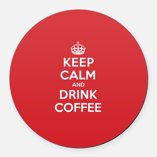K C Drink Coffee Round Car Magnet