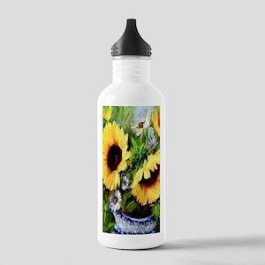 Sunflower Stainless Water Bottle 1.0L