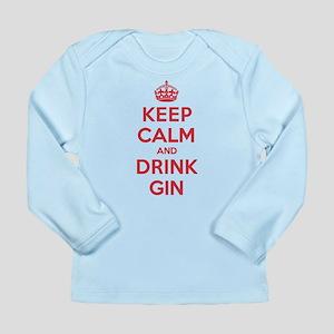 K C Drink Gin Long Sleeve Infant T-Shirt