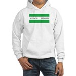 Spinach Coffee Cup Hooded Sweatshirt