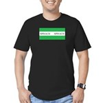 Spinach Coffee Cup Men's Fitted T-Shirt (dark)