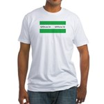 Spinach Coffee Cup Fitted T-Shirt