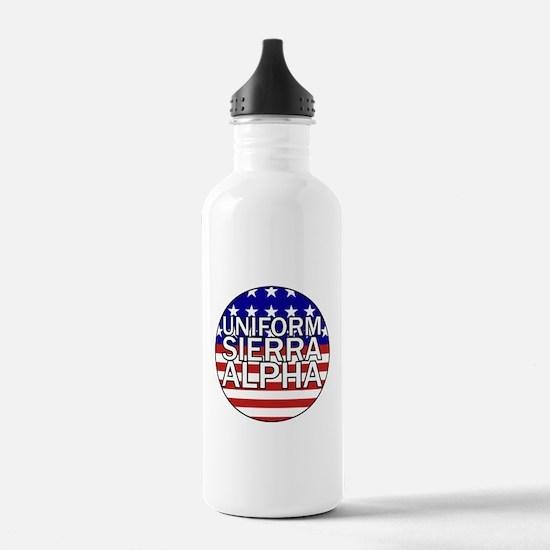 USA - Flag Water Bottle
