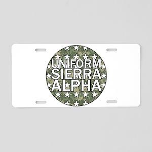USA - Camo Flag Aluminum License Plate