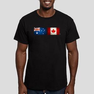 australia canada flags Men's Fitted T-Shirt (dark)