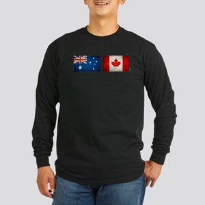 australia canada flags Long Sleeve Dark T-Shirt