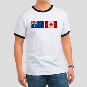 australia canada flags Ringer T