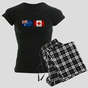 australia canada flags Women's Dark Pajamas