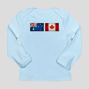 australia canada flags Long Sleeve Infant T-Shirt