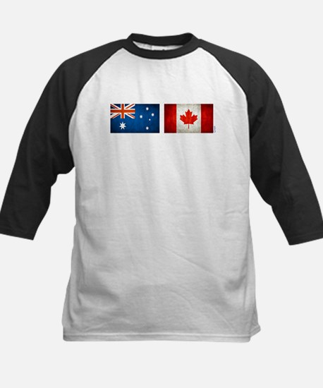 australia canada flags Kids Baseball Jersey
