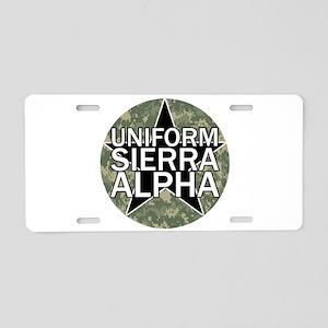 USA - Camo Aluminum License Plate