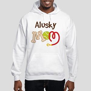 Alusky Dog Mom Hooded Sweatshirt