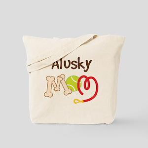 Alusky Dog Mom Tote Bag