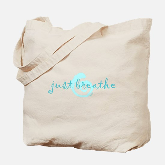 just breathe purple Tote Bag