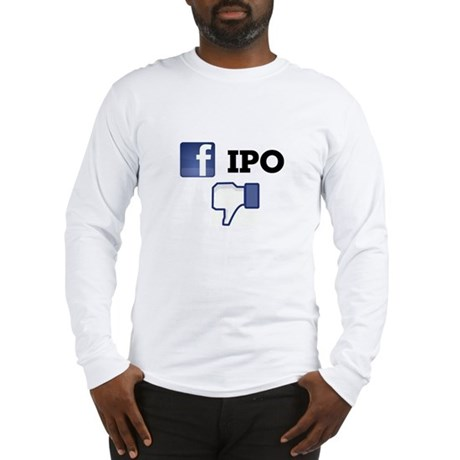 Facebook IPO Thumbs Down Long Sleeve T-Shirt