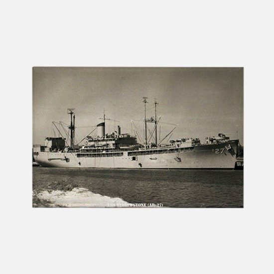 USS YELLOWSTONE Rectangle Magnet