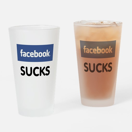 Facebook Sucks Drinking Glass