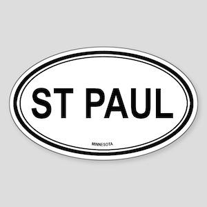 St Paul (Minnesota) Oval Sticker
