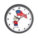 USA Boy Wall Clock