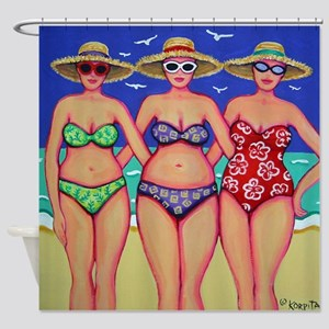 Summer Sisters - Women Beach Shower Curtain