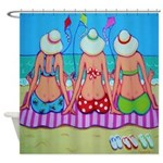 Kite Flying 101 Beach Shower Curtain