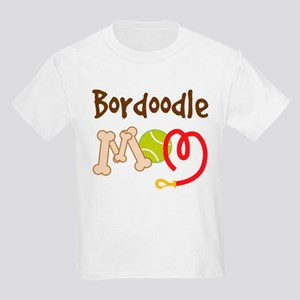Bordoodle Dog Mom Kids Light T-Shirt