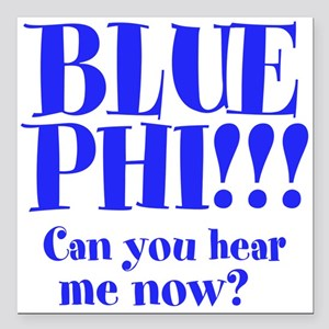 "Blue Phi!! Square Car Magnet 3"" x 3"""