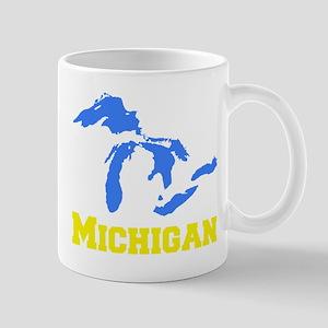 A Maize and Blue Mug
