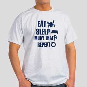Eat Sleep Muay Thai Light T-Shirt