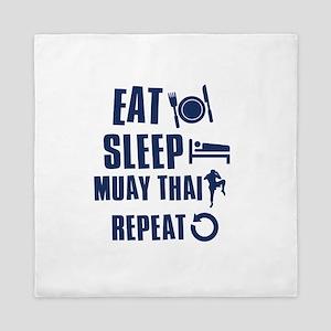 Eat Sleep Muay Thai Queen Duvet