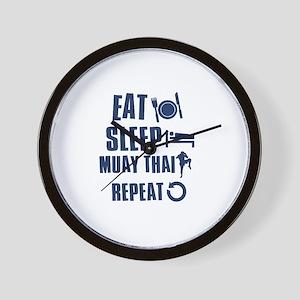 Eat Sleep Muay Thai Wall Clock