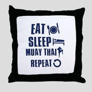 Eat Sleep Muay Thai Throw Pillow