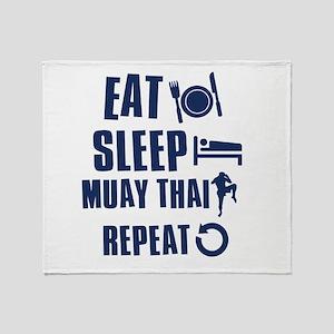Eat Sleep Muay Thai Throw Blanket
