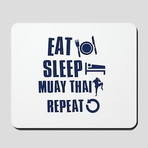 Eat Sleep Muay Thai Mousepad