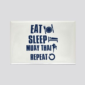 Eat Sleep Muay Thai Rectangle Magnet