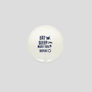 Eat Sleep Muay Thai Mini Button