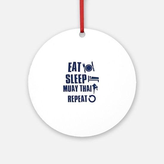 Eat Sleep Muay Thai Ornament (Round)