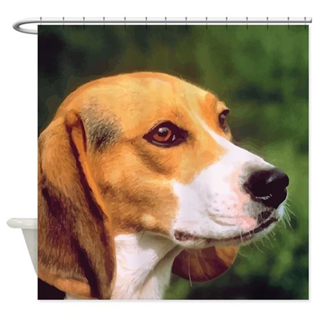 Beagle Shower Curtain By Dogtshirts