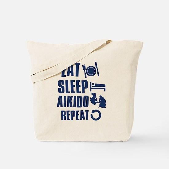 Eat Sleep Aikido Tote Bag